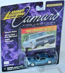 【送料無料】模型車 モデルカー スポーツカー カマロコレクションシボレーカマロジョニーcamaro collection 1968 chevy camaro rsss blue met 164 johnny lightning
