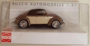 【送料無料】模型車 モデルカー スポーツカー ターミナルブラウンbusch 46718 spur h0 vw hebmller cabrio zweifarbig, braun neu ovp