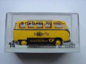 【送料無料】模型車 モデルカー スポーツカー フォルクスワーゲンポストホテルbrekina 018463 vw t1b samba post hotel volkswagen 187 neu