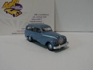 【送料無料】模型車 モデルカー スポーツカー コンビbrekina 27354 emw 340 kombi baujahr 19491955 in taubenblau 187 neu