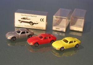【送料無料】模型車 モデルカー スポーツカー オペルシルバー#neues angebot 3* opel gt silber rot gelb imu 6001 187 ovp