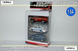 【送料無料】模型車 モデルカー スポーツカー デセットエシェルset de 3 vhicules urgence norev no 311663 echelle 164