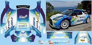【送料無料】模型車 モデルカー スポーツカー シトロエンラリーミーレデッラエルバデカールモデルcitroen ds3 wrc miele rally della elba decals 143 no model