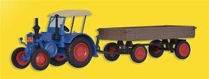 【送料無料】模型車 モデルカー スポーツカー ゴムトターファイルkibri 12232 h0 traktor lanz mit gummiradwagen