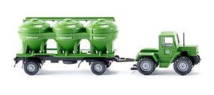 【送料無料】模型車 モデルカー スポーツカー サイロトレーラトターメルセデスwiking 38598 h0 traktor mercedes trac mit siloanhnger