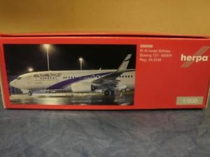 【送料無料】模型車 モデルカー スポーツカー ボーイングエルアルherpa wings 1200 boeing 737900er el al 556996