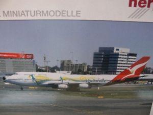 【送料無料】模型車 モデルカー スポーツカー 1200 herpa 554664 qantas boeing 747400 go wallabies