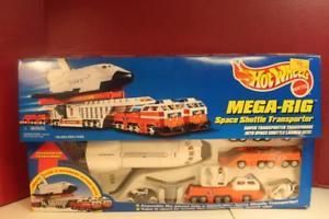 【送料無料】模型車 モデルカー スポーツカー ホットホイールメガリグスペースシャトルトランスポーターミントhot wheels megarig space shuttle transporter nib sealed mint 1992