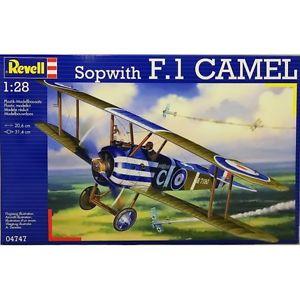 【送料無料】模型車 モデルカー スポーツカー キットダタイプrevell 128 kit aereo sopwith f1 camel lunghezza 20,6 cm art 04747