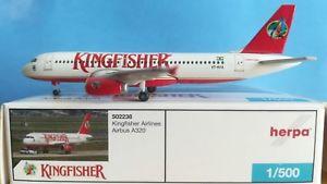 【送料無料】模型車 モデルカー スポーツカー キングフィッシャーherpa wings 1500 502238 kingfisher a320 vtkfa **rare**