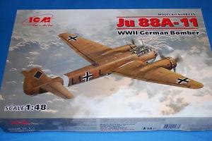 【送料無料】模型車 モデルカー スポーツカー ジュドイツスカラicm 48235 ju 88a11 wwii german bomber scala 148