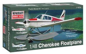 【送料無料】模型車 モデルカー スポーツカー パイパーチェロキーフロートキットヌオーヴォpiper pa28 cherokee floatplane  minicraft kit 148 11674 nuovo