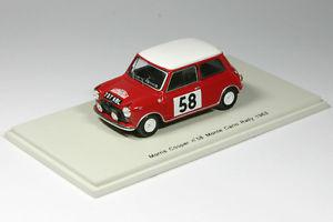 【送料無料】模型車 モデルカー スポーツカー モーリスミニクーパーモンテカルロラリースパークmorris mini cooper 58 rallye monte carlo 1963 143 spark 1189