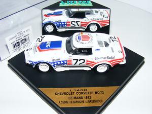 【送料無料】模型車 モデルカー スポーツカー #ルマンシボレーコルベット143 vitesse chevrolet corvette 72 le mans 1972 neu ovp l146b