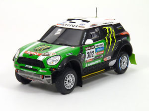 【送料無料】模型車 モデルカー スポーツカー ミニダカールtruescale tsm144345 mini countryman all4, peterhansel 1st 2012 dakar resin 143