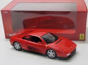 【送料無料】模型車 モデルカー スポーツカー フェラーリレッドホットホイールズneues angebotferrari 348 tb 1989 rot hot wheels 118