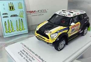 【送料無料】模型車 モデルカー スポーツカー ミニ#ローマダカールラリーtruescale tsm144343 mini countryman all4 305, roma 2nd 2012 dakar, resin 143