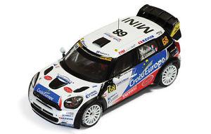 【送料無料】模型車 モデルカー スポーツカー ミニクーパーイヴァンミュラーラリーアルザス143 mini cooper wrc yvan muller leneveu rallye alsace 2012 ram 518