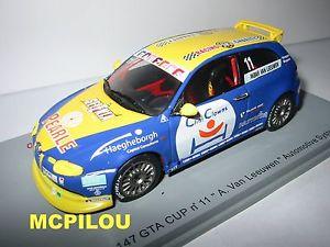【送料無料】模型車 モデルカー スポーツカー アルファロメオspark so483 alfa romeo 147 gta n 11 a van leeuwen au 143
