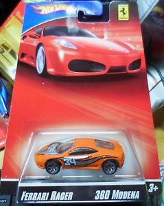 【送料無料】模型車 モデルカー スポーツカー レーサーホットホイールフェラーリモデナオレンジ2007 hot wheels ferrari racer 360 modena orange combine shipping htf