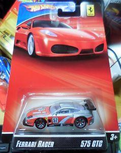 【送料無料】模型車 モデルカー スポーツカー レーサーホットホイールフェラーリシルバー2007 hot wheels ferrari racer 575 gtc silver combine shipping htf