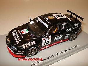 【送料無料】模型車 モデルカー スポーツカー スパークアルファロメオspark s0454 alfa romeo 156 gta n16 etcc 2003 ruberti au 143