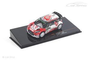 【送料無料】模型車 モデルカー スポーツカー シトロエンモンテカルロラリーネットワークモデルcitroen ds3 wrc rallye montecarlo 2016 meeke nagle ixo models 143
