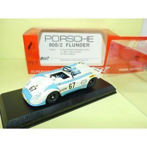 【送料無料】模型車 モデルカー スポーツカー ポルシェヒラメルマンベストporsche 908 02 flunder n67 le mans 1972 best 9110 143
