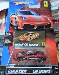 【送料無料】模型車 モデルカー スポーツカー ホットホイールフェラーリスクーデリアフェラーリレーサーシリーズ2007 hot wheels ferrari series ferrari racer 430 scuderia combine shipping