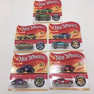 【送料無料】模型車 モデルカー スポーツカー カードセットhotwheels 50th anniversary originals full set of five all on unpunched cards