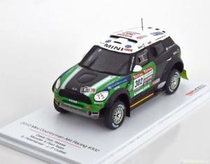 【送料無料】模型車 モデルカー スポーツカー スケールミニパリダカールラリー143 true scale mini countryman all4 winner rally paris dakar 2012