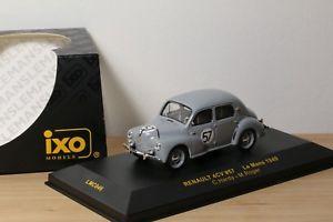 【送料無料】模型車 モデルカー スポーツカー ルノー#ルマンネットワークrenault 4cv 57 24h du mans 1949 ixo 143 lmc046