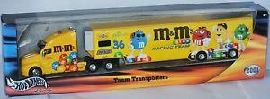 【送料無料】模型車 モデルカー スポーツカー ホーラチームトランスポーターケンnascar hauler team transporter 2001 * mamp;m´s * ken schrader 164