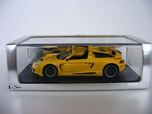 【送料無料】模型車 モデルカー スポーツカー ポルシェミラージュイエロースパーク143 porsche gemballa mirage gt gelb spark s0720 neu ovp