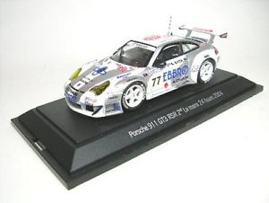 【送料無料】模型車 モデルカー スポーツカー ポルシェクラスルマンporsche 911 gt3 rsr, no77 2nd gt class lemans 2004