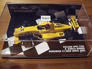 【送料無料】模型車 モデルカー スポーツカー ダラーラユーロシリーズロバートクビサ143 dallara 2003 f302 robert kubica euro series nosiri