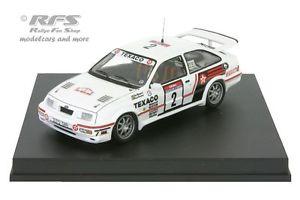 【送料無料】模型車 モデルカー スポーツカー フォードシエラコスワースツールドコルスford sierra rs cosworth tour de corse 1987 blomqvist 143 trofeu 0122