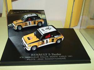 【送料無料】模型車 モデルカー スポーツカー ルノーターボラリーモンテカルロユニバーサルrenault 5 turbo rallye monte carlo 1981 j ragnotti universal hobbies