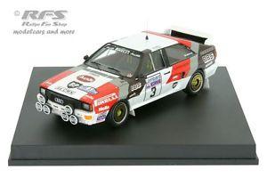 【送料無料】模型車 モデルカー スポーツカー アウディクワトロラリーaudi quattro rac rallye 1983 blomqvist cederberg 143 trofeu 1609
