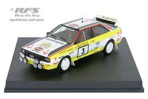 【送料無料】模型車 モデルカー スポーツカー アウディクワトロフィンランドラリーaudi quattro a2 rallye finnland 1984 blomqvist cederberg 143 trofeu 1623
