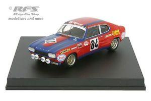 【送料無料】模型車 モデルカー スポーツカー フォードカプリルマンford capri 2600 rs 24h le mans 1972 guerie rouget 143 trofeu 2315