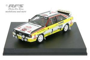 【送料無料】模型車 モデルカー スポーツカー アウディクワトロモンテカルロラリーaudi quattro rallye monte carlo 1984 rhrl geistdrfer 143 trofeu 1610m