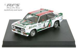 【送料無料】模型車 モデルカー スポーツカー フィアットアバルトアリタリアラリーポルトガルfiat 131 abarth alitalia rallye portugal 1978 alen 143 trofeu 1406