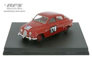 【送料無料】模型車 モデルカー スポーツカー ラリーエリックカールソンスチュアートターナーsaab 96 rac rallye 1960 erik carlsson stuart turner 143 trofeu tr 1505