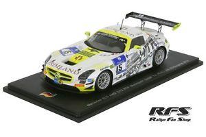 【送料無料】模型車 モデルカー スポーツカー メルセデスベンツモータースポーツニュルブルクリンクスパークmercedesbenz sls amg gt3 htp motorsport 24h nrburgring 2014 143 spark