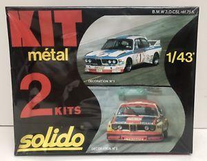 【送料無料】模型車 モデルカー スポーツカー キットキットリファレンスヌフkit mtal 2 kits solido rf 75k bmw 30 csl 197882 neuf