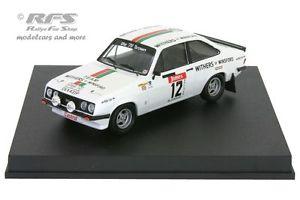 【送料無料】模型車 モデルカー スポーツカー フォードエスコートアルガルベウィリアムズラリーford escort rs 2000 algarve rallye 1978 williams wood 143 trofeu 1815