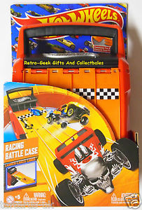 by Mattel Hot Wheels Racing Battle Case 2 in 1 Store And Race holds 20 Cars