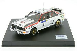 【送料無料】模型車 モデルカー スポーツカー アウディクワトロラリーセゾンフランスラリー143 trofeu audi quattro darniche rallye td france 1984 143 rallye tr 1618