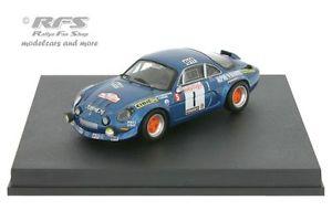 【送料無料】模型車 モデルカー スポーツカー ルノーアルパインツールドコルスラリーalpine renault a110 1800 rallye tour de corse 1972 darniche 143 trofeu 0835